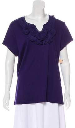 Isaac Mizrahi Isaac by Short Sleeve Embroidered Top w/ Tags