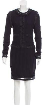 Chanel Wool-Blend Knit Dress