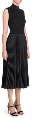 Prada Rib-Knit Plisse Skirt Dress