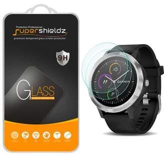 Garmin [2-Pack] Supershieldz vivoactive 3 Tempered Glass Screen Protector, Anti-Scratch, Anti-Fingerprint, Bubble Free