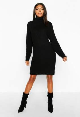 boohoo Tall Soft Knit Roll Neck Jumper Dress