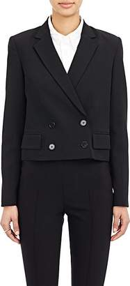 Theory Icon Women's Wool-Blend Crop Double-Breasted Blazer - Black