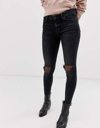 AllSaints grace ankle fray jeans