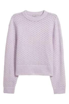 H&M Mohair-blend Sweater - Light purple - Women