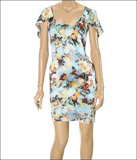 Jean Paul Gaultier Silk Floral Print Dress