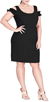City Chic Cute Frill Sheath Dress