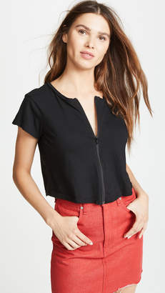 LnA Cort Zip Up Tee
