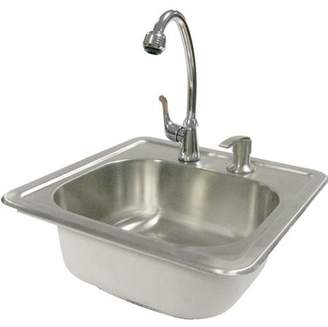 Cal Flame Outdoor Stainless Steel Sink with Faucet and Soap Dispenser
