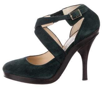 Jimmy Choo Suede Crossover Pumps