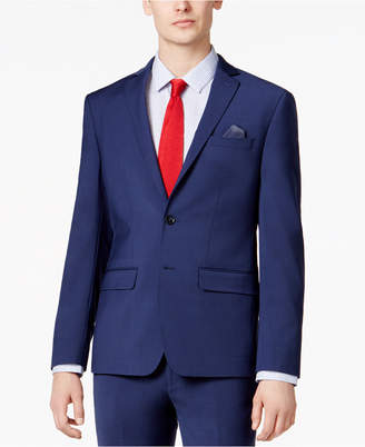Bar III Men's Skinny Fit Stretch Wrinkle-Resistant Blue Suit Jacket