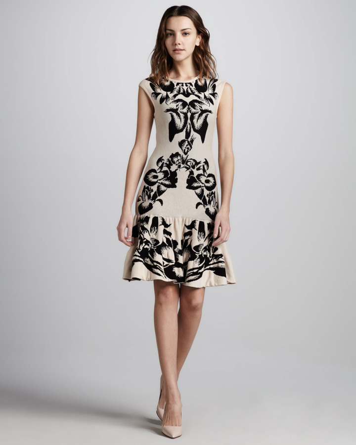 McQ Floral Intarsia-Knit Dress