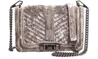 Rebecca Minkoff small chevron quilted love shoulder bag