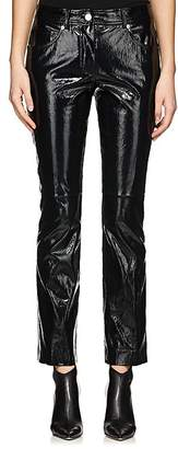 Helmut Lang Women's Patent Leather Crop Flared Pants