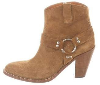 Saint Laurent Suede Harness Boots