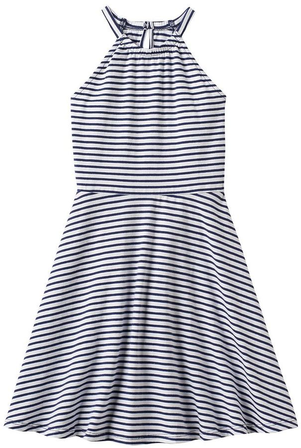 Girls 4-10 Jumping Beans® Striped Halter Dress