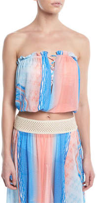 Ramy Brook Mika Printed Blouson Crop Top