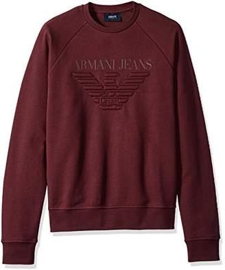 Armani Jeans Men's Regular Fit Fleece Pullover Crew Sweatshirt
