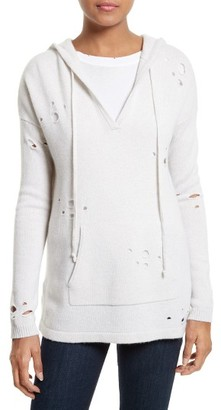 Women's Autumn Cashmere Distressed Cashmere Hoodie $385 thestylecure.com