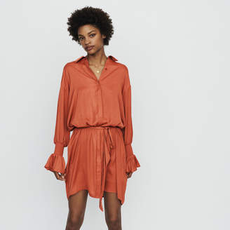 Maje Shirt dress with smocks