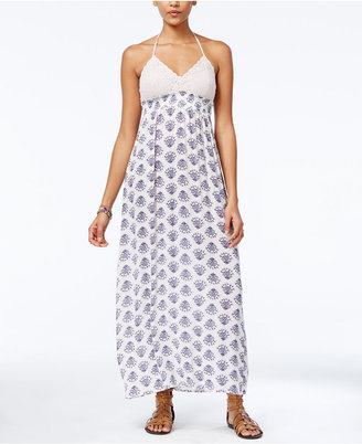 American Rag Crochet Printed Halter Maxi Dress, Only at Macy's $69.50 thestylecure.com