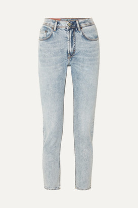 Acne Studios Melk High-rise Tapered Jeans - Light denim