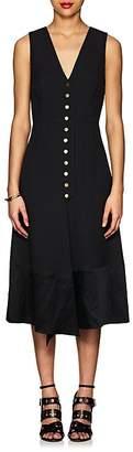 Derek Lam Women's Snap-Front Cady V-Neck Midi-Dress