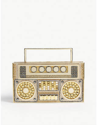 Judith Leiber Crystal boombox clutch