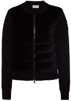 Moncler Cardigan in Wool and Cashmere with Down Filling
