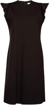 Escada Sleeveless Dress with Ruffles