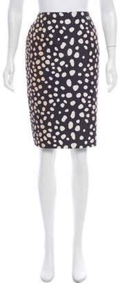 Christian Dior Silk Polka Dot Skirt