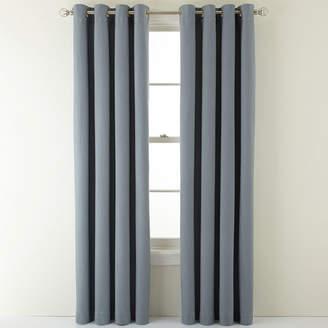 Martha Stewart MarthaWindowTM Fairmount Basketweave Grommet-Top Heavyweight Cotton Curtain Panel