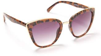 Zoe Leopard Square Cat Eye Sunglasses