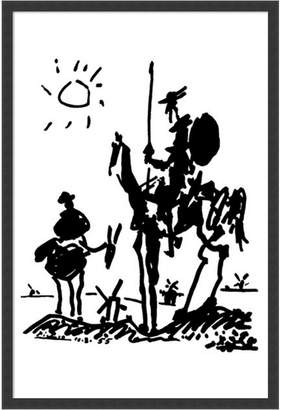 Amanti Art Don Quixote By Pablo Picasso- Framed Art Print
