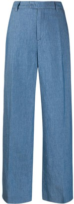 Closed flared trousers