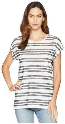 Vince Camuto Fringe Stripe Tee Women's T Shirt