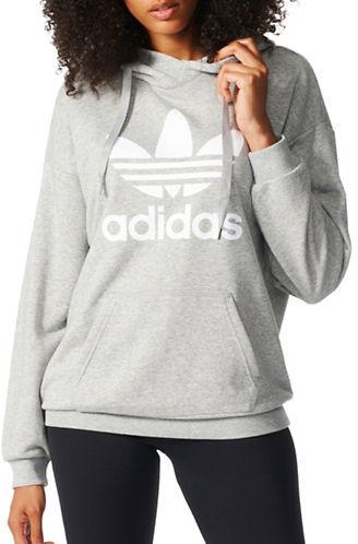 Adidas Trefoil Heathered Hoodie