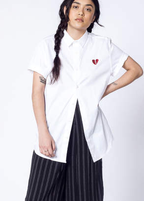 WildFang Tee Ink LA Heart Button Up | LA Heart Button Up - WHITE - SMALL