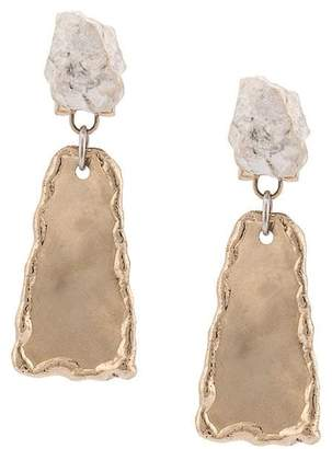 Proenza Schouler Small Hammered Dangle Earrings