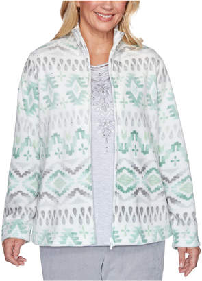 Alfred Dunner Lake Geneva Printed Fleece Jacket