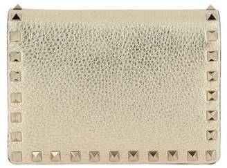 Valentino Garavani Mini Bag Rockstud Spike Mini Crossbody Bag In Laminated Leather With Thin Chain Strap