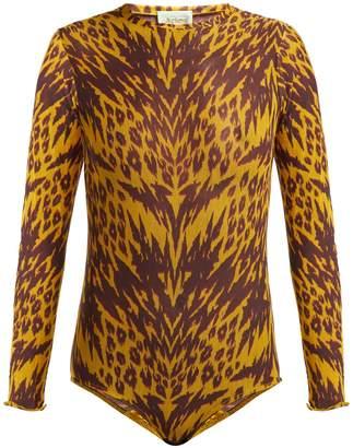 Aries Tiger-print mesh bodysuit