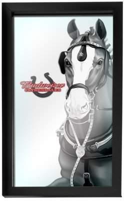 ADG Budweiser Framed Logo Mirror - Clydesdale Black