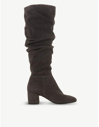Dune Sarento ruched knee-high leather boots