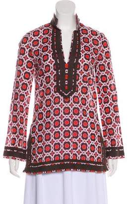 Tory Burch Patterned Long Sleeve Tunic