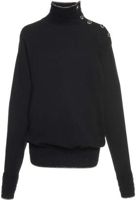 Alberta Ferretti Cashmere Wool Turtleneck Sweater