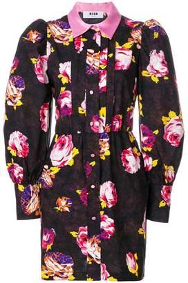 MSGM button-down floral dress