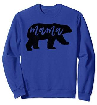 Mama Bear Vintage Distressed Womens Sweatshirt Crewneck
