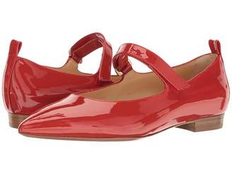 a. testoni Pointed Toe Strapped Flat Women's Shoes