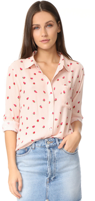 RAILS Rocsi Strawberries Button Down Shirt $148 thestylecure.com
