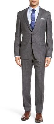 Men's Boss Huge/genius Trim Fit Check Wool Suit $995 thestylecure.com